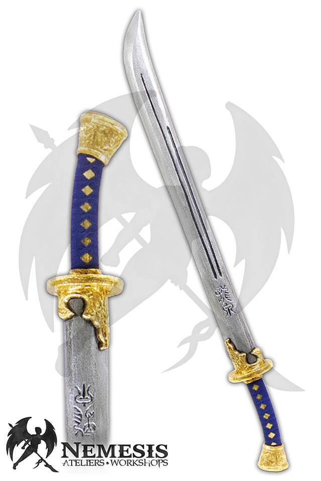 larp custom dao sword gold