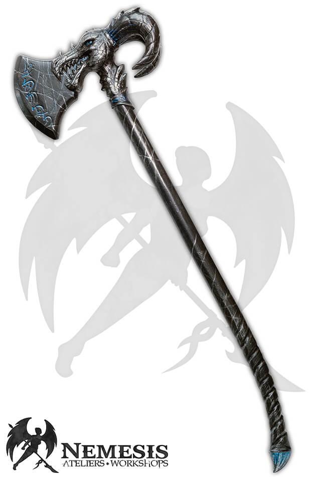 larp custom dragon axe