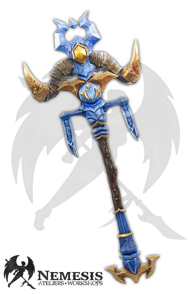larp custom shaman staff LED