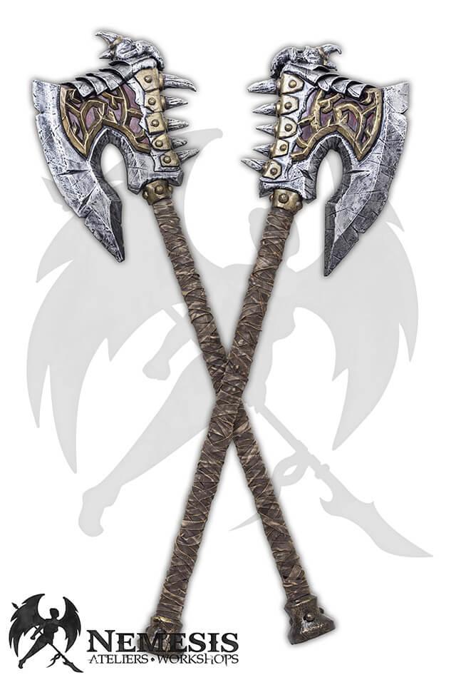 larp tribal great axe custom
