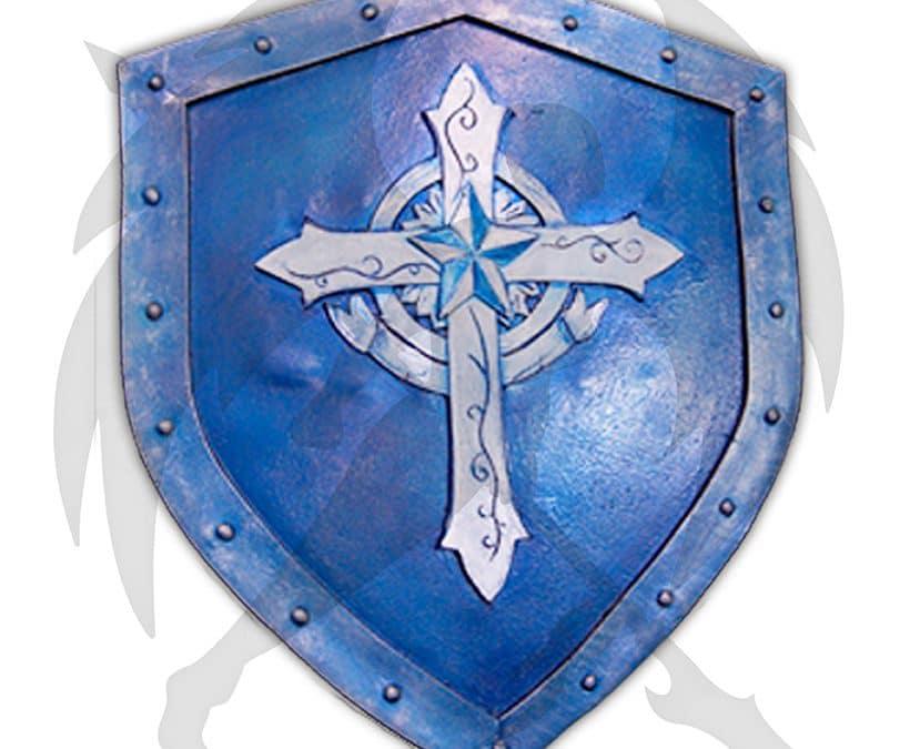 LARP blue cross buckler shield