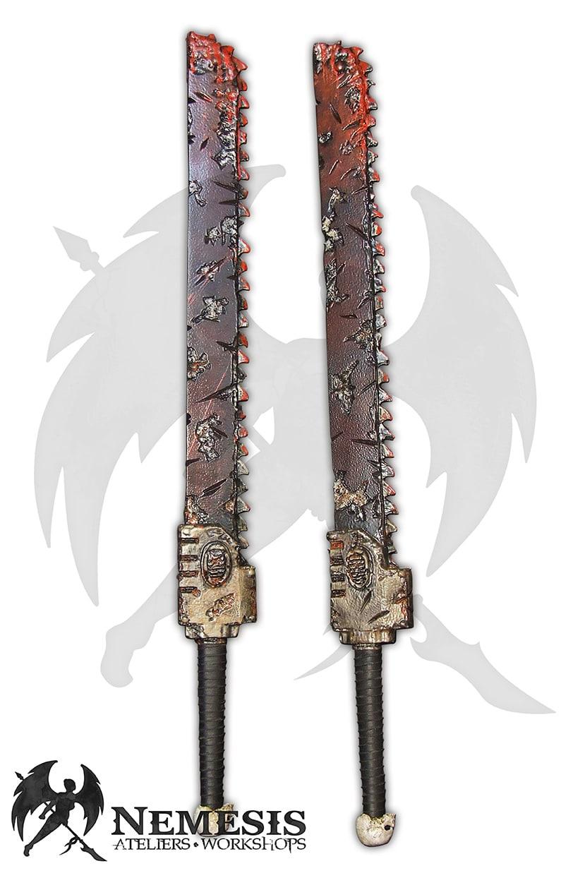 LARP chainsword blood warhammer