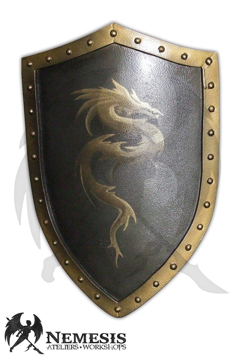LARP custom shield dragon