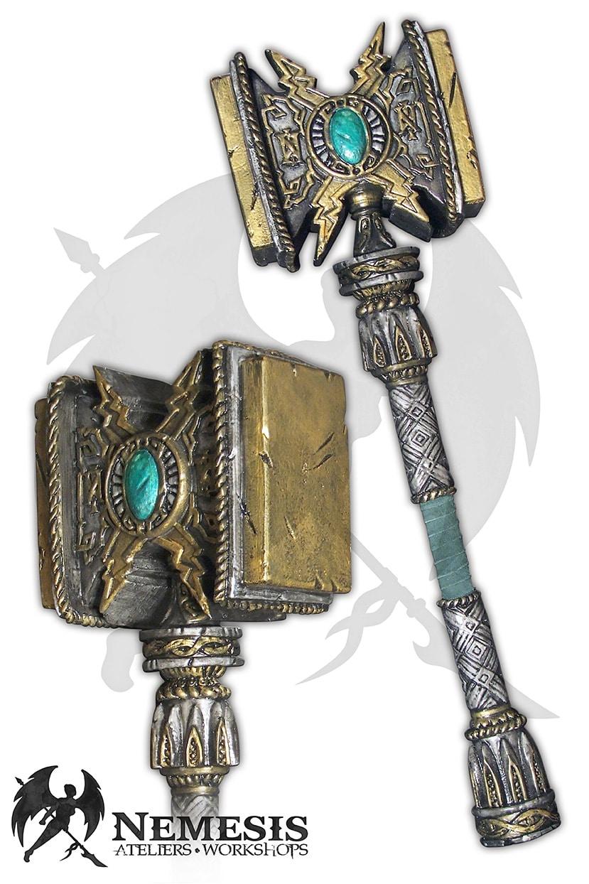 LARP custom thunder hammer