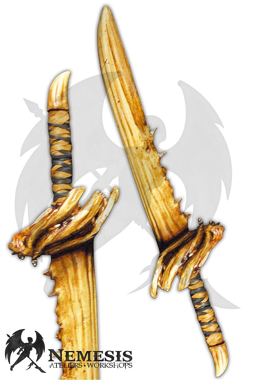 LARP dragon tooth blade sword