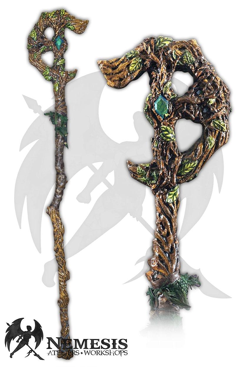 LARP druid shaman staff custom
