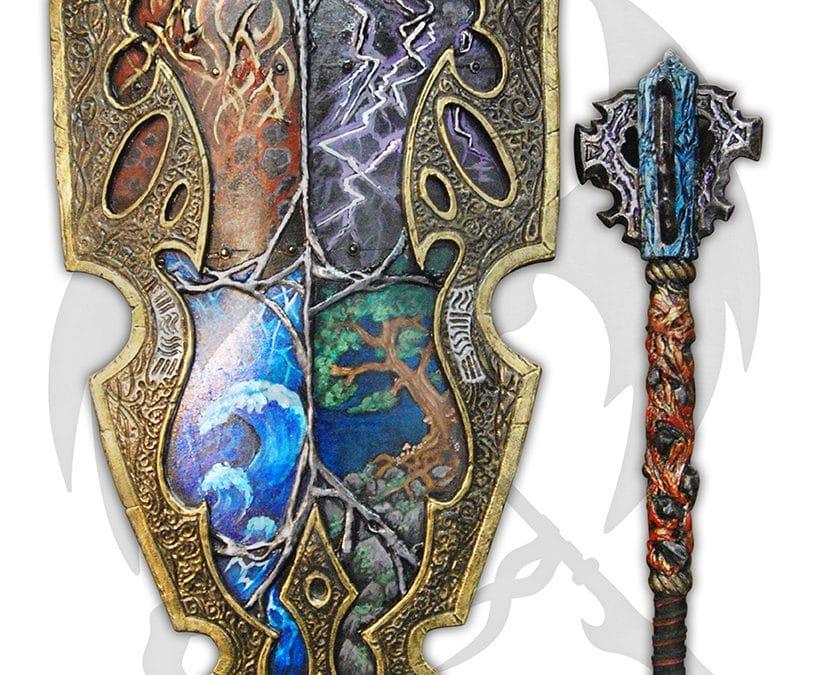 LARP elemental shield mace custom