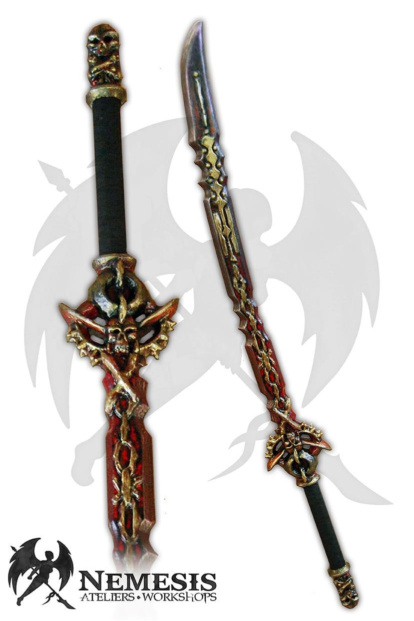 LARP katana custom demon