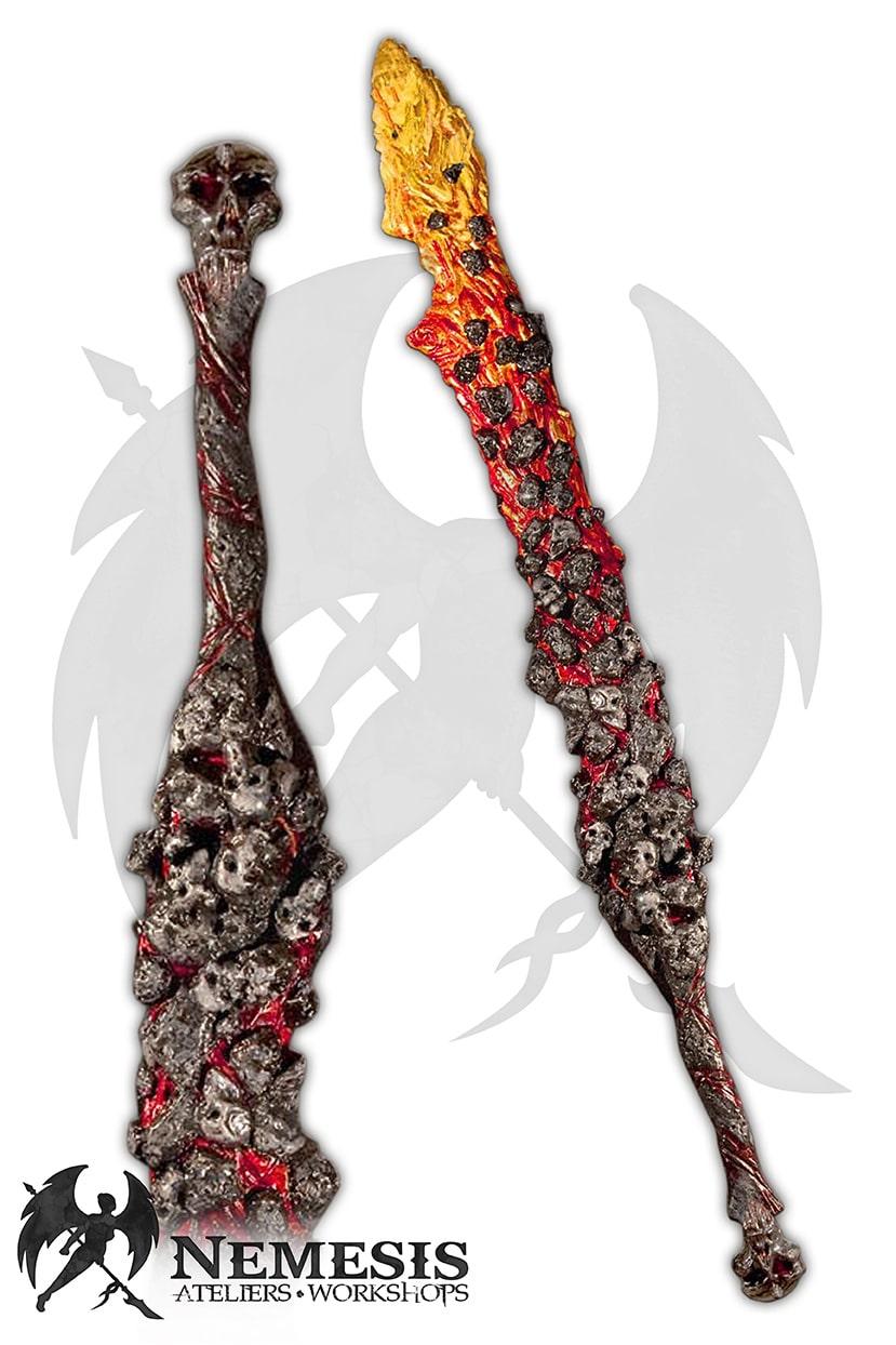 LARP lava skull sword