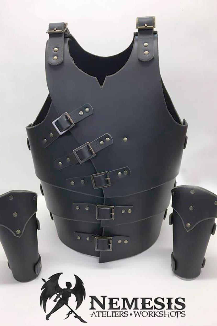 LARP leather armor kid
