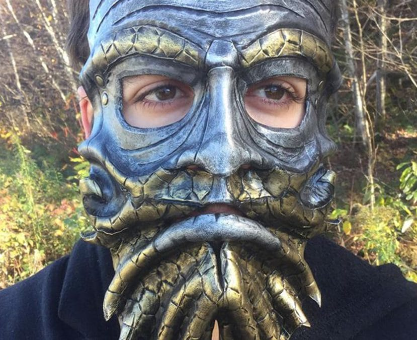 LARP leather mask alveolus