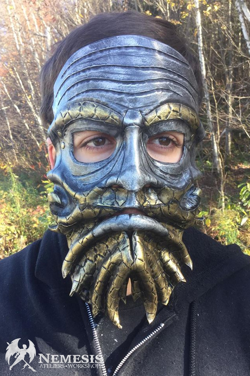 LARP leather mask alveolus