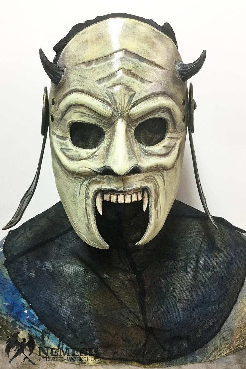 LARP leather mask demon