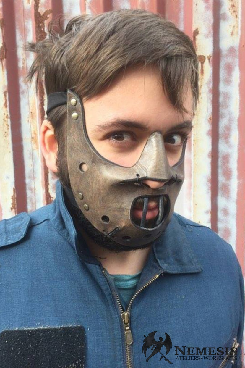 LARP leather mask hannibal lecter