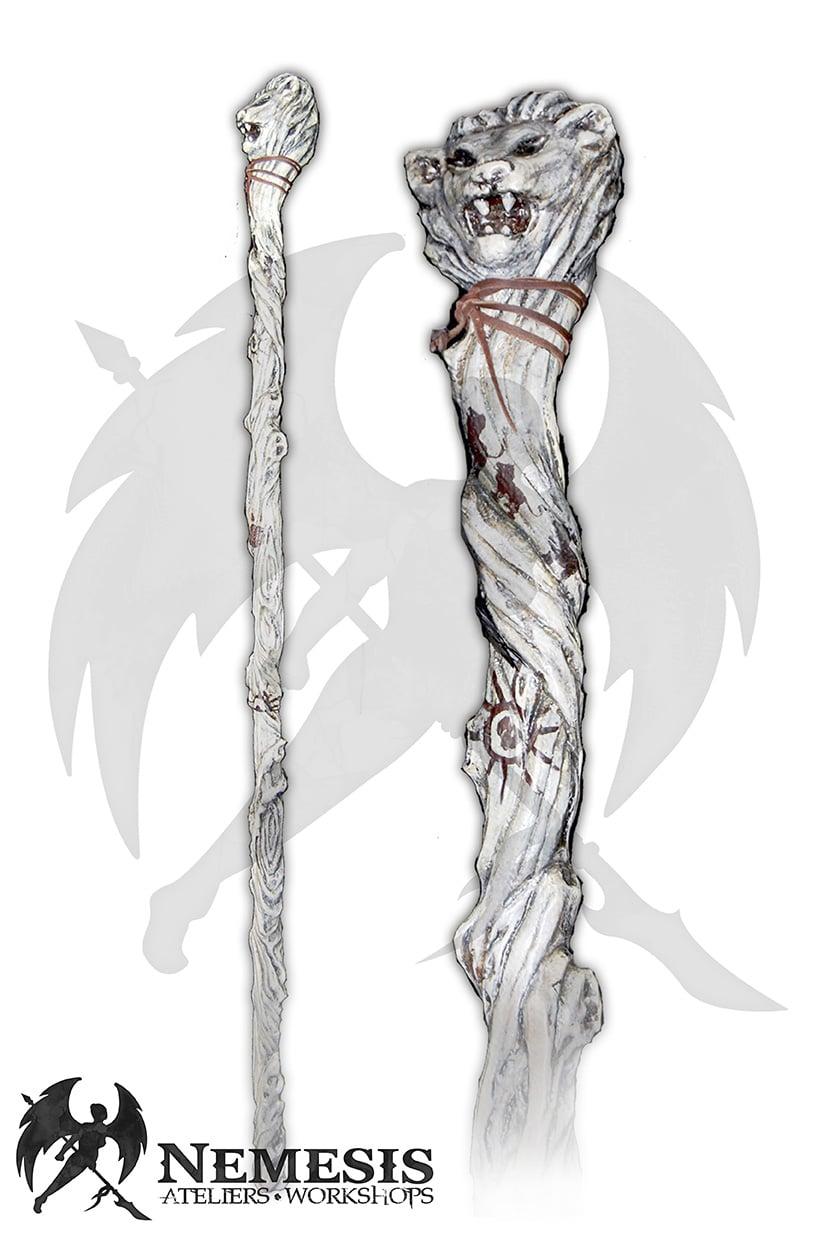 LARP lion mage staff