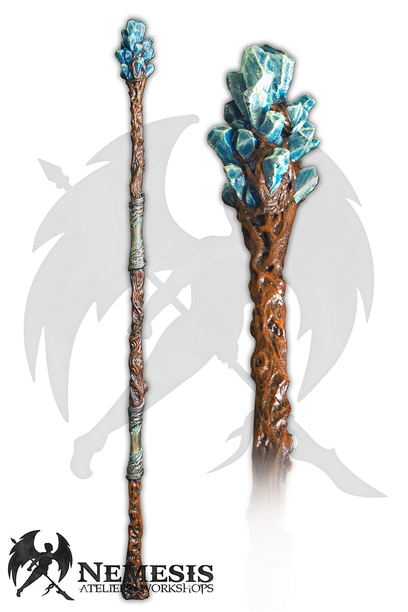 LARP mage staff crystal gem
