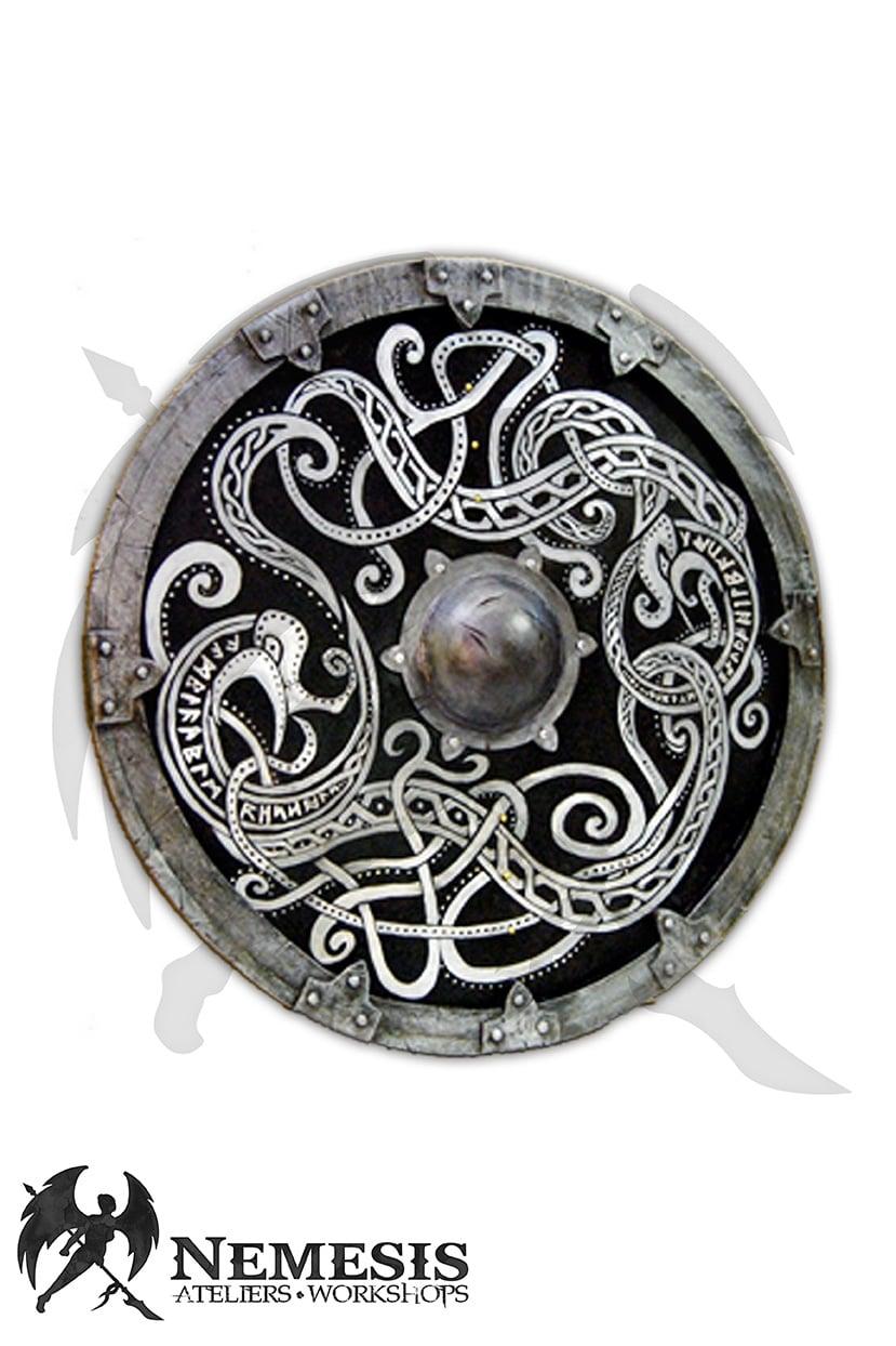 LARP viking buckler custom