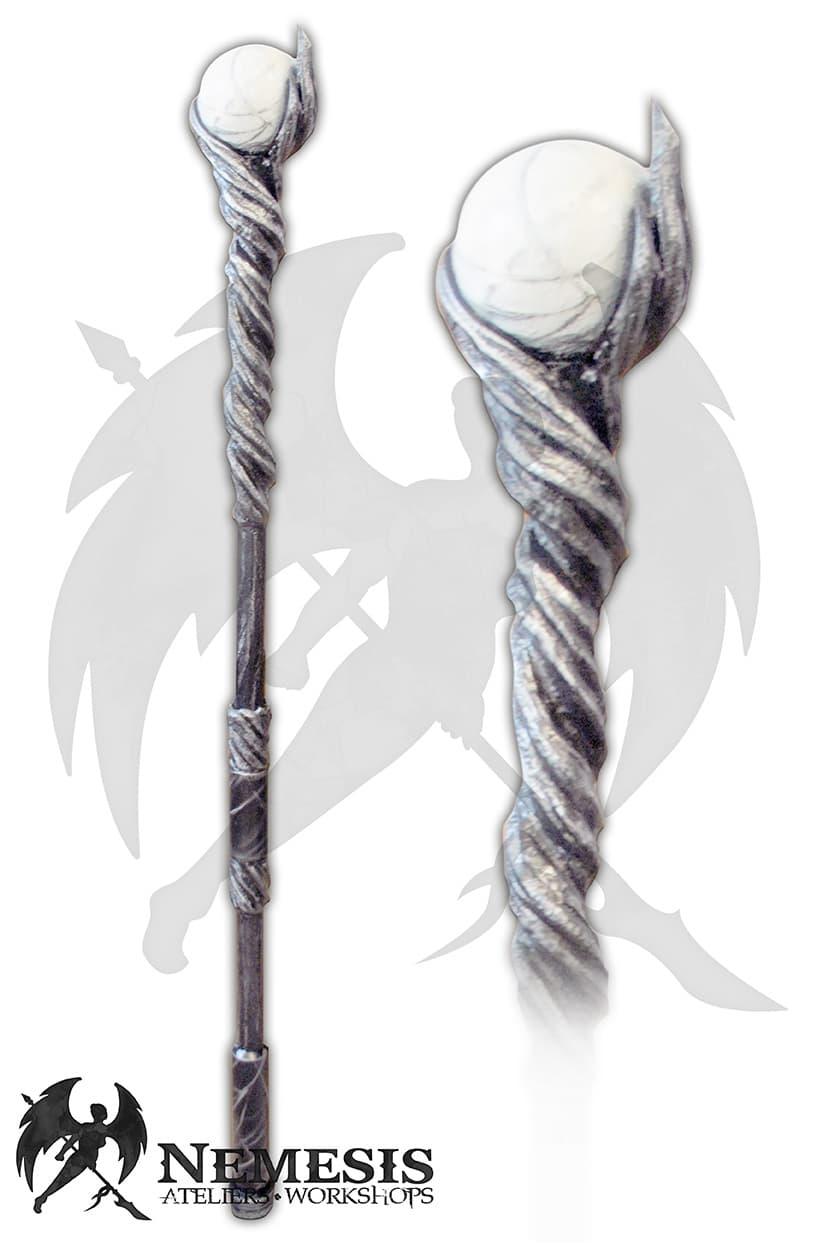 LARP white mage staff custom