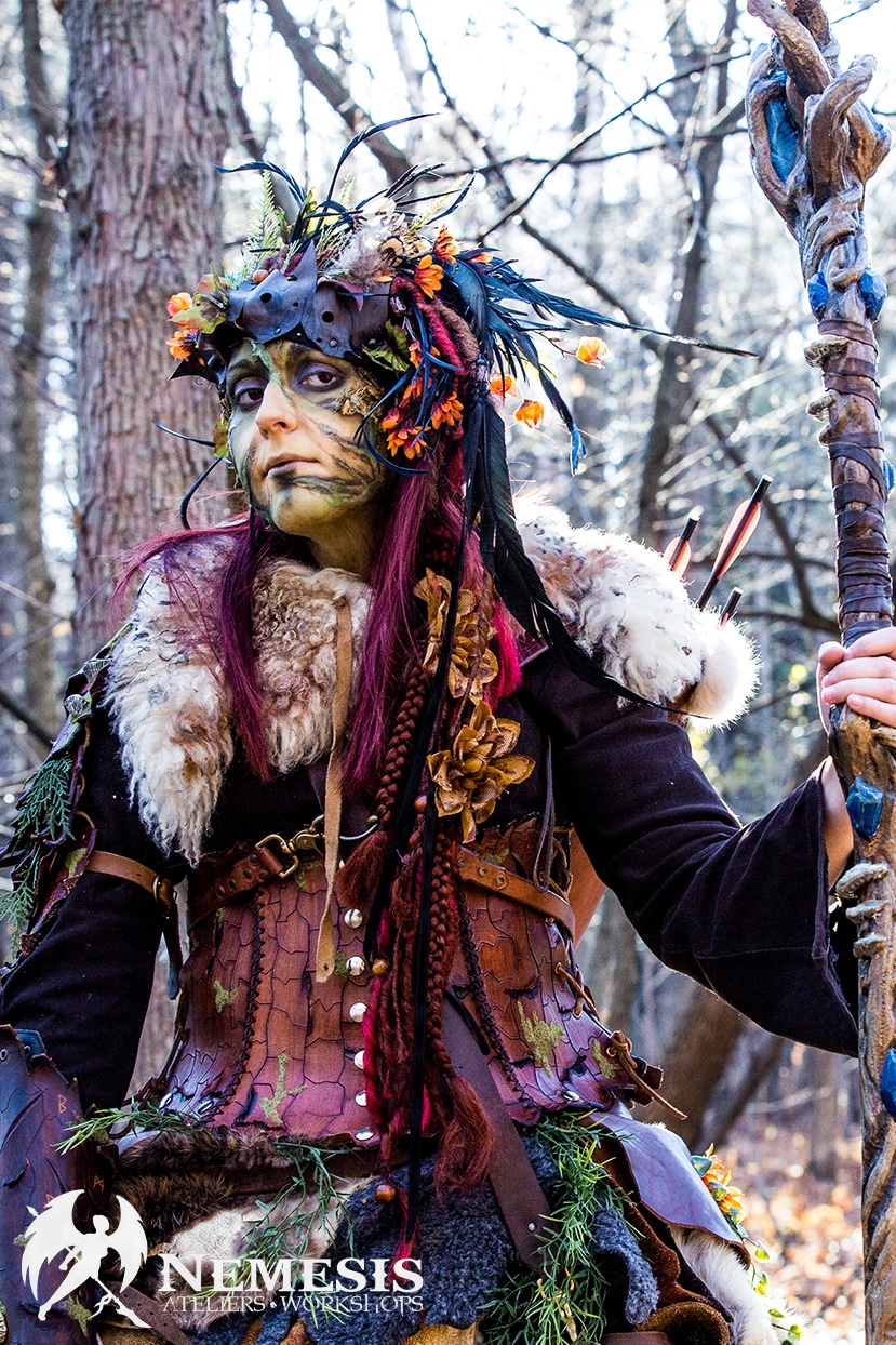 larp cosplay druid forest