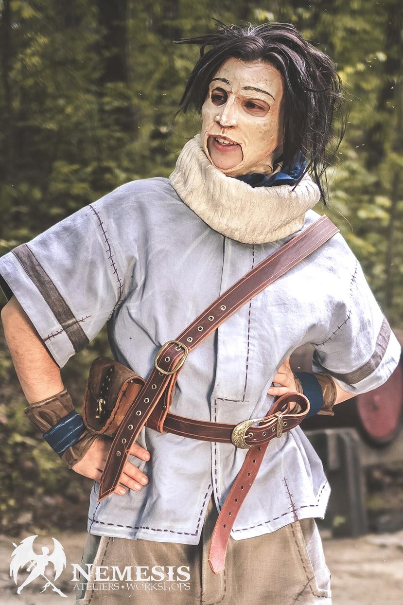 larp latex mask amos daragon
