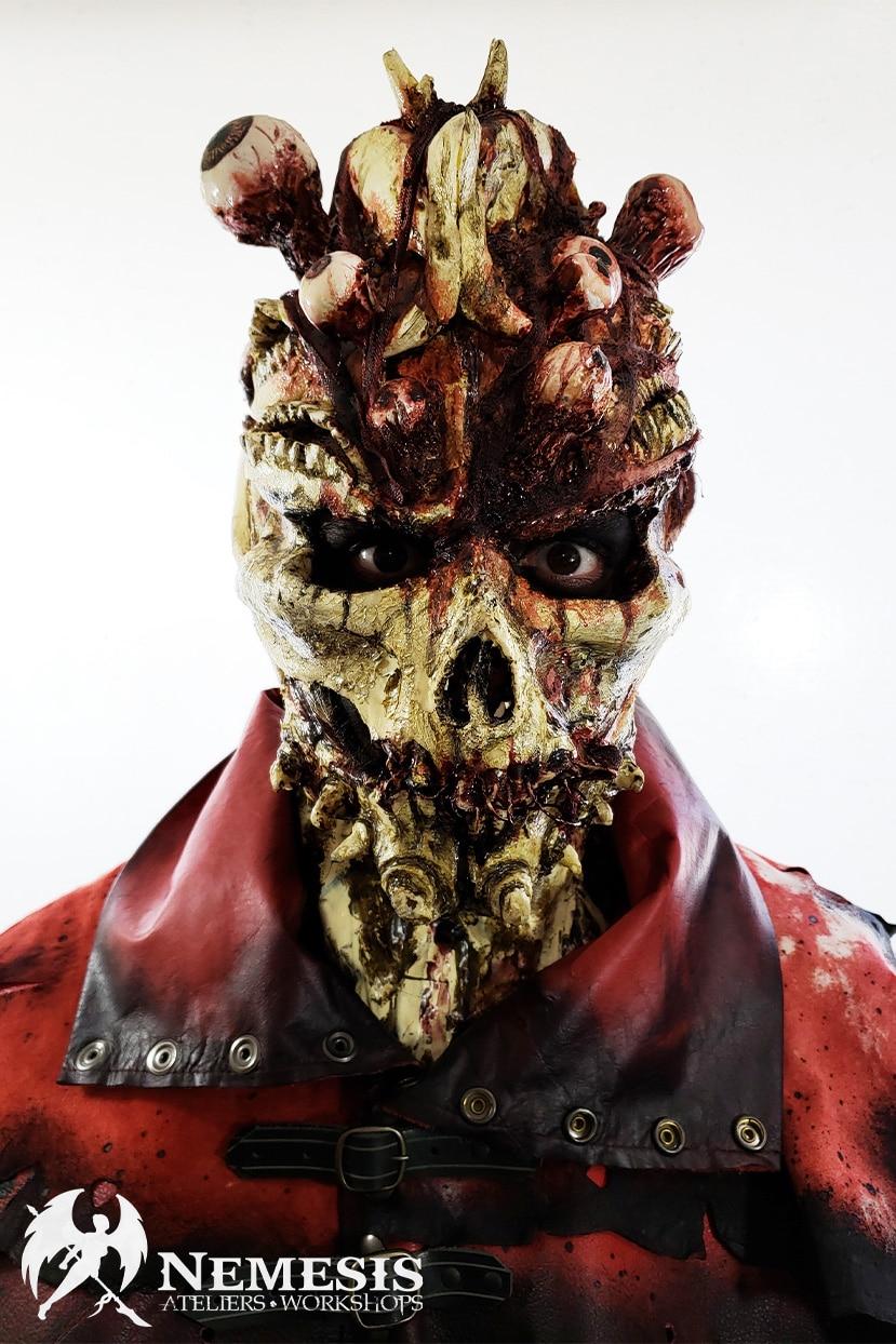 larp latex mask eyes bones