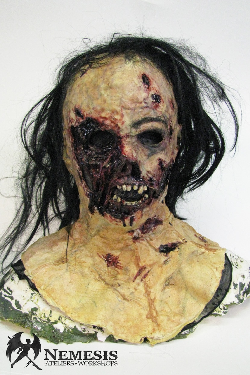larp latex mask face zombie