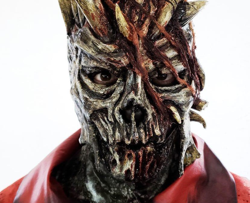 larp latex mask flesh zombie