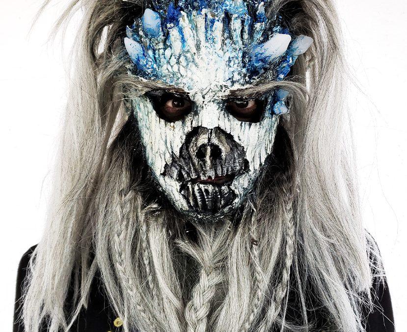 larp latex mask ice zombie