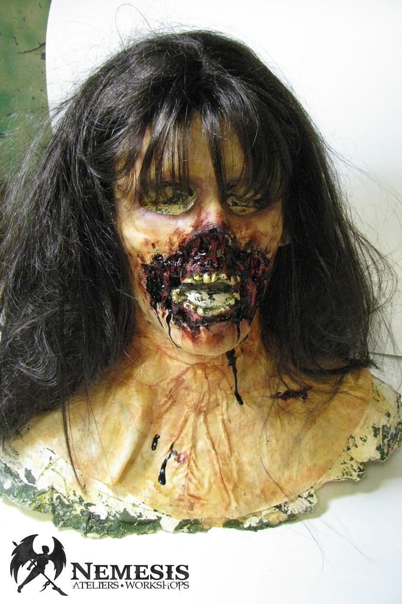 larp latex mask mouth zombie