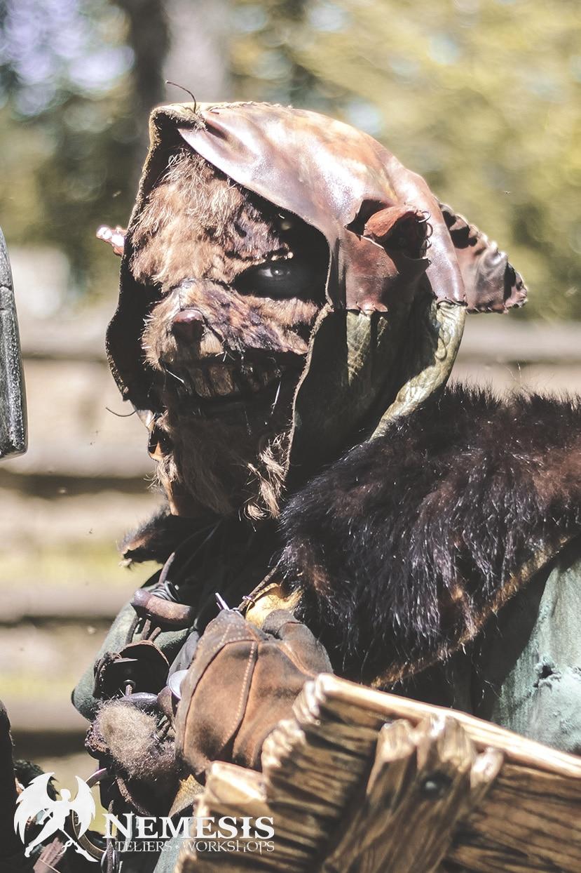 larp latex mask skaven racaille