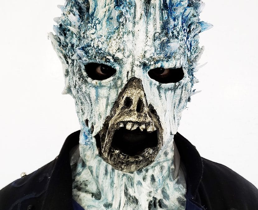 larp latex mask zombie crystal