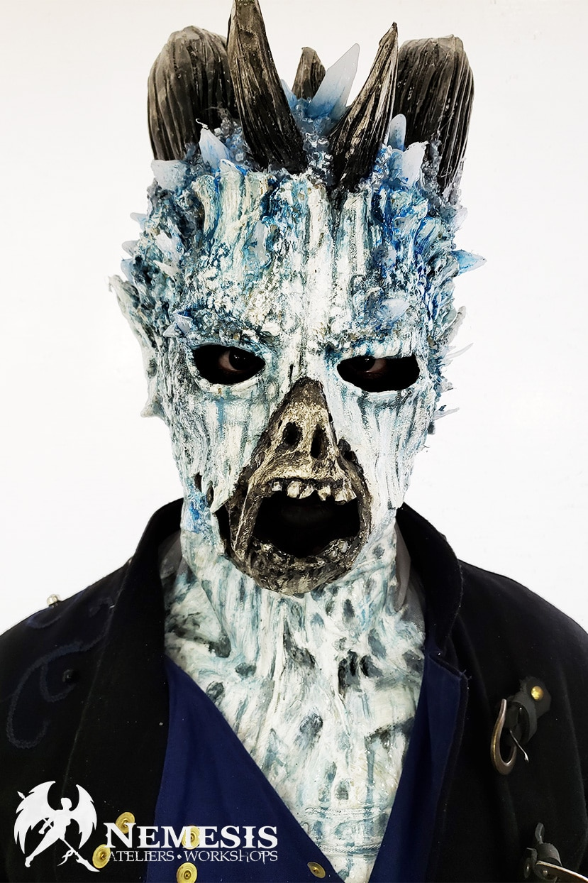 larp latex mask zombie crystal