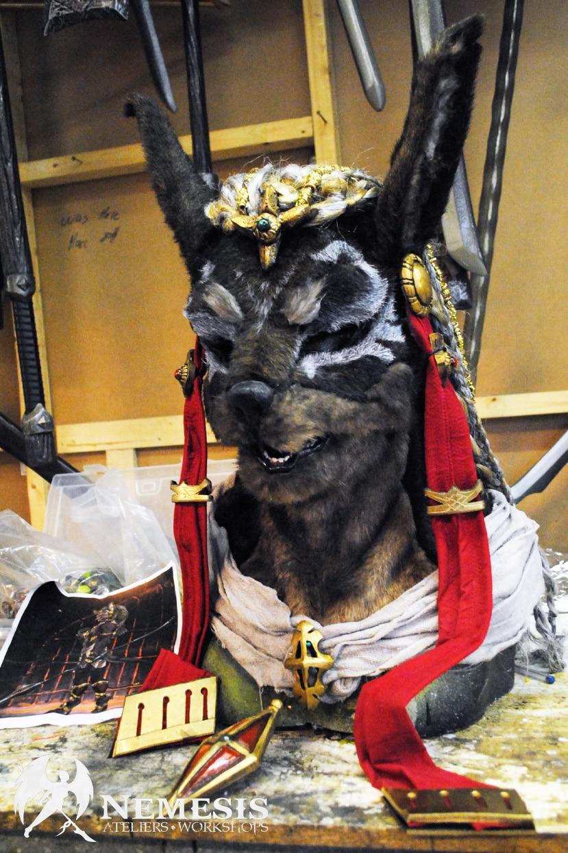 larp mask anubis furry