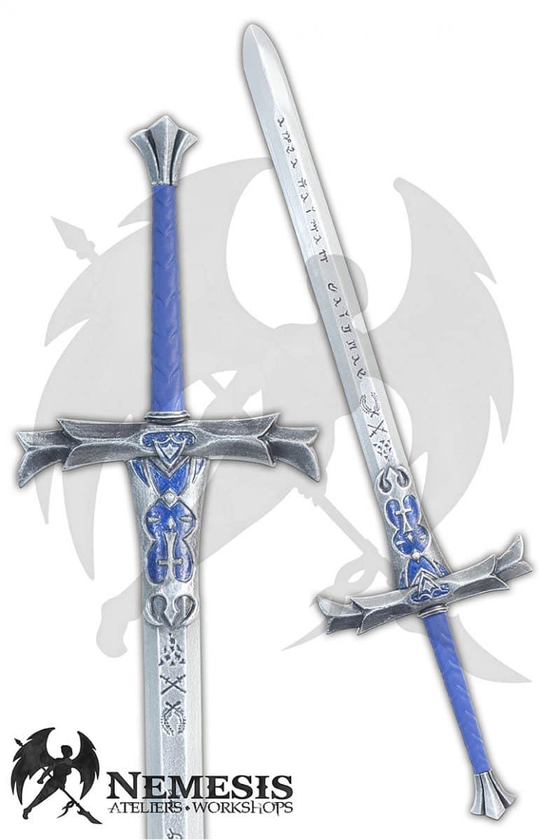 LARP custom blue historical sword