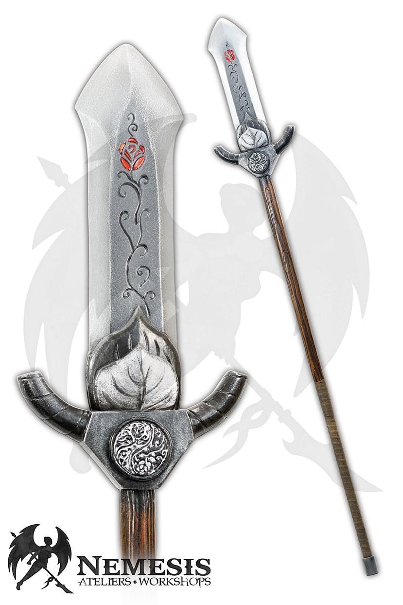 LARP custom spear rose