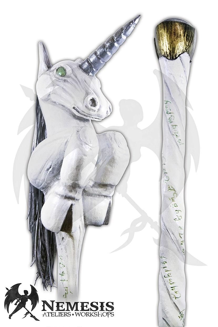 LARP unicorn mage staff