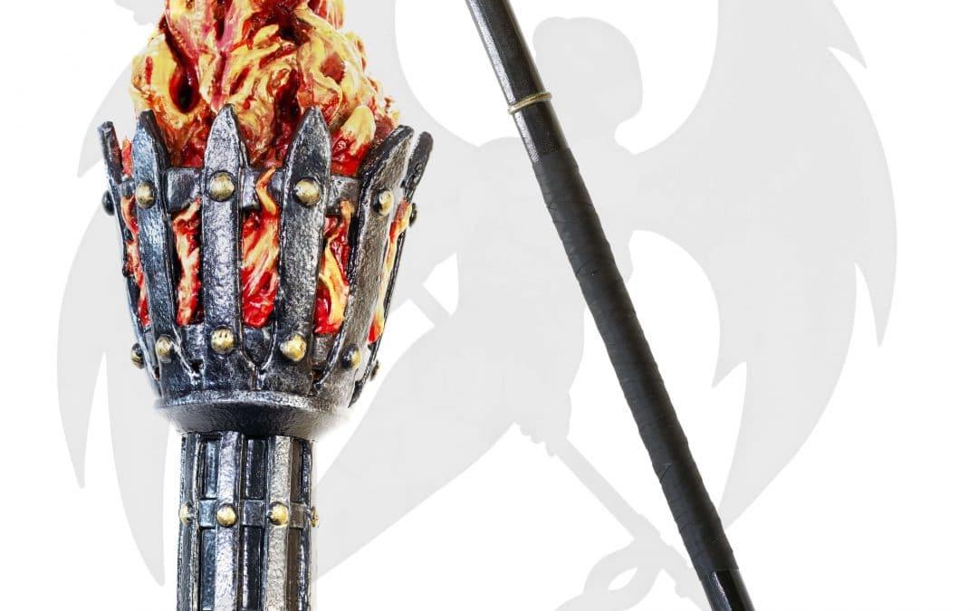 LARP torch staff fire