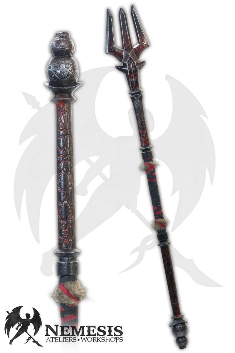 LARP trident shaman metal